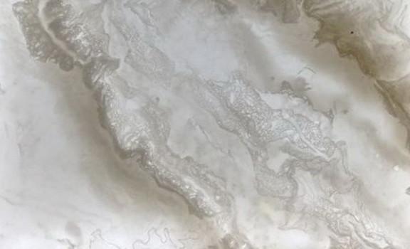 Antique white amberlite